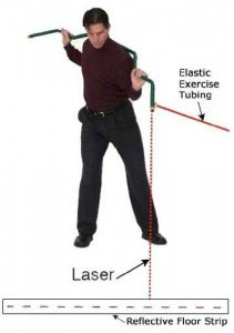 Green Stick golf laser fitness trainer