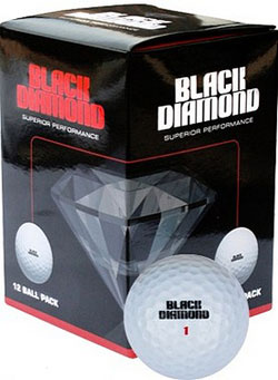 Golfbollar nya billiga Black Diamond 72-pack