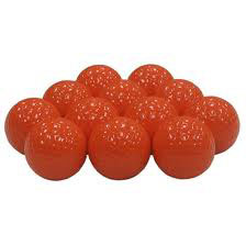 Golfbollar orange 12-pack
