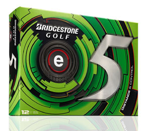 Golf logo bollar Bridgestone e5 12-pack