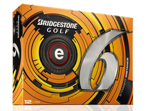 Golf logo bollar Bridgestone e6 12-pack