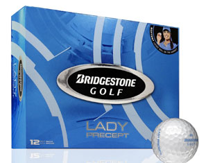 Golf logo bollar Bridgestone Lady Precept  12-pack