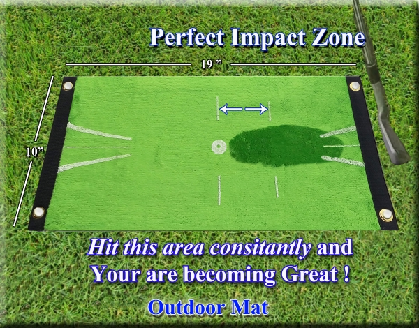 Golf mat with feedback Acu-Strike Outdoor