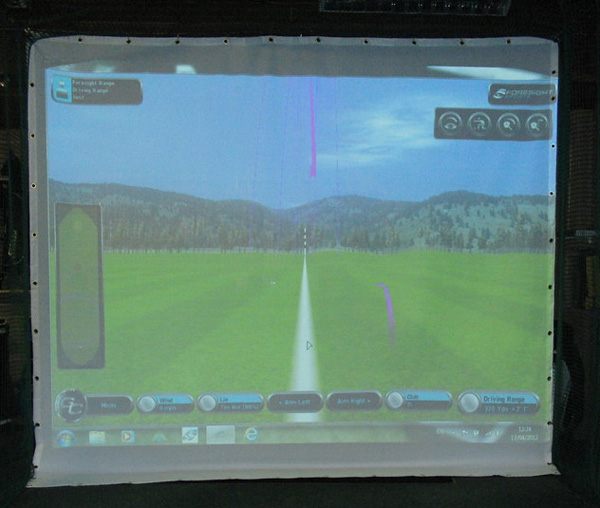 Golf Simulator Netting Projection 3 x 3 meters