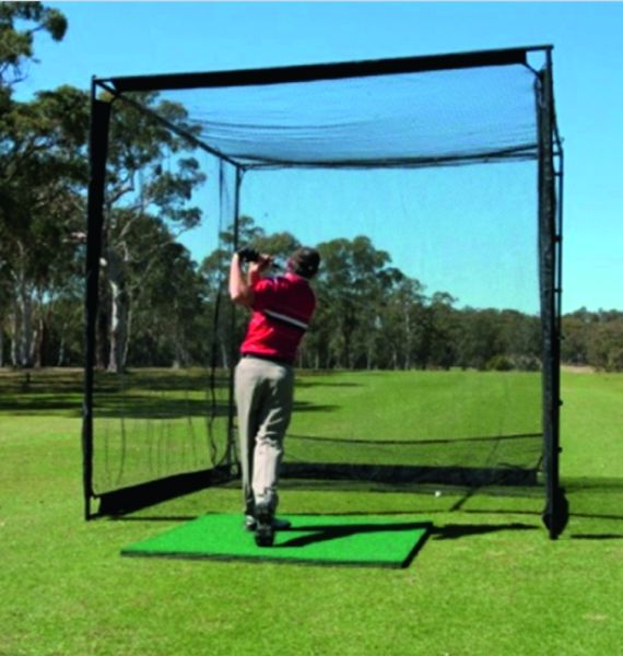 Golf Simulator Optishot 2+Projections net+stance mat+super cage