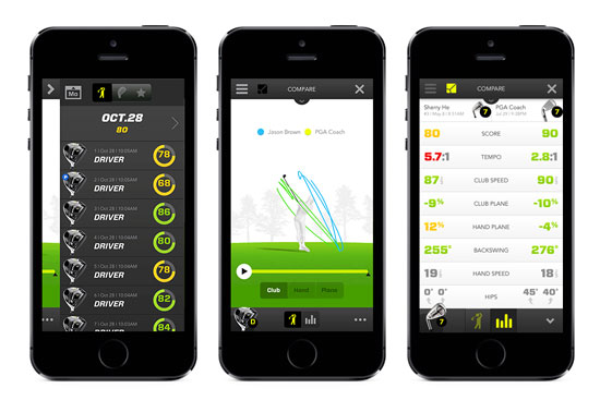 Golf analyserare 3D Zepp