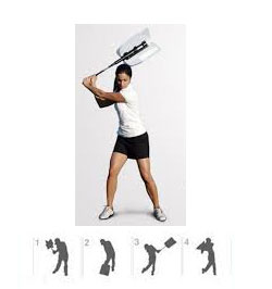 Golf Swing Fan Standard right handed