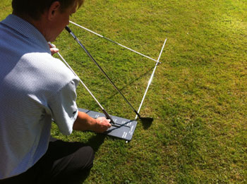 Golf Swing Plane Home Checker System