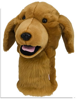 Headcover djur hund deluxe Golden Retriever