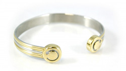 Magnetic Bracelet Stainless Steel Deep bioflow silver/gold S