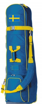 Travel Cover Golf Sweden with wheels blue/yellow