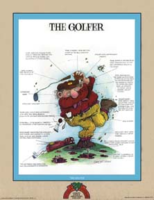 Golf litografi The golfer